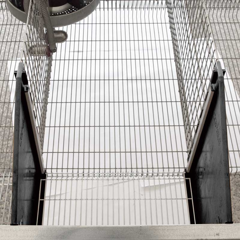 2 Sections Exhibition Cage