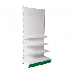 White Shelving Column